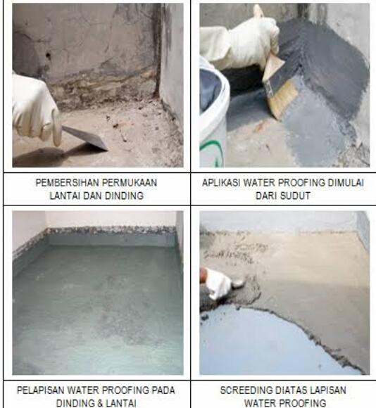 Tahap Pengerjaan Waterproofing
